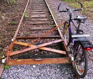 fiets op rails